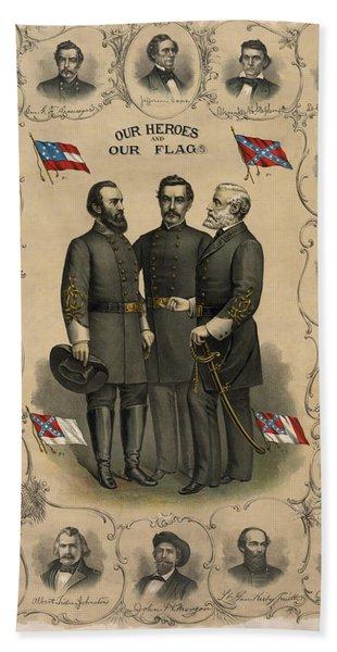 Confederate Generals Of The Civil War Hand Towel