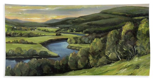 Connecticut River Valley View Two Hand Towel