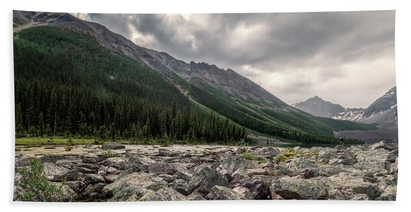 Consolation Lakes And Boulders Bath Towel