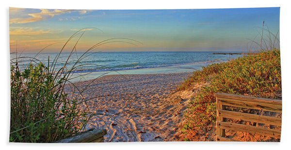 Coquina Beach By H H Photography Of Florida  Bath Towel