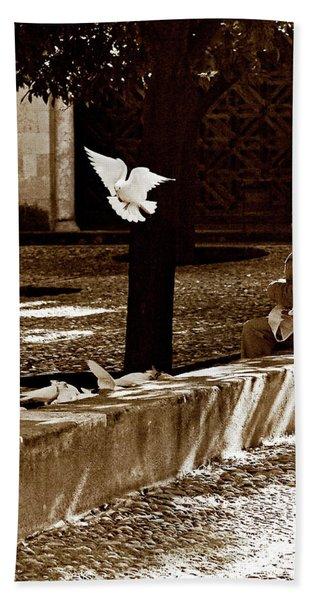 Bath Towel featuring the photograph Cordoba Flight by Lorraine Devon Wilke
