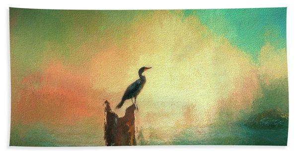 Cormorat Sunset Hand Towel