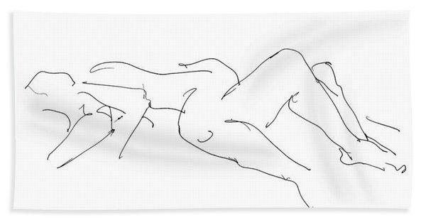 Couples Erotic Art 4 Bath Towel