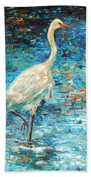 Crane Reflection Hand Towel
