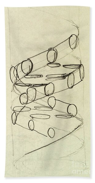 Cricks Original Dna Sketch Bath Towel