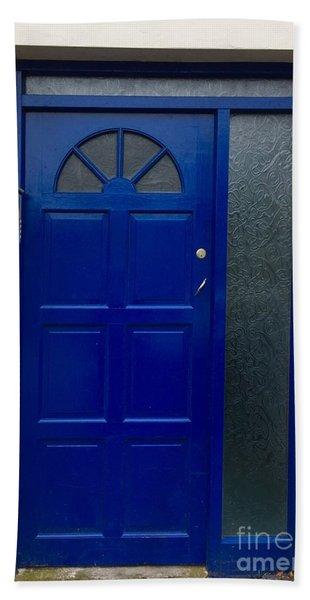 Crooked Blue Door In  Ireland  Hand Towel