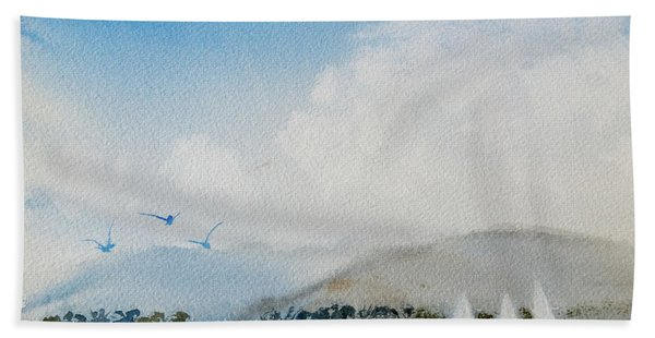 Cruising In Company Along The Tasmania Coast  Hand Towel