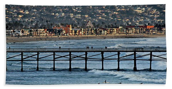 Crystal Pier - Mission Beach - Big Dipper Hand Towel