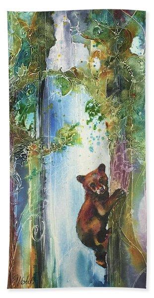 Cub Bear Climbing Bath Towel