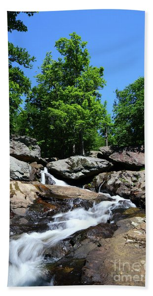 Cunningham Falls Long Exposure Image Maryland Hand Towel