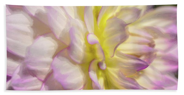 Dahlia Study 5 Painterly  Bath Towel
