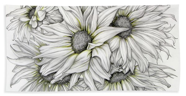 Sunflowers Pencil Bath Towel