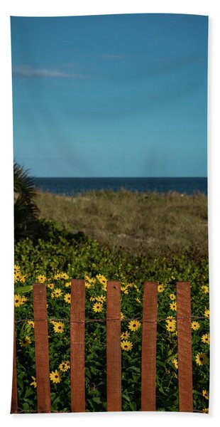 Daisy Dune Fence Delray Beach Florida Bath Towel