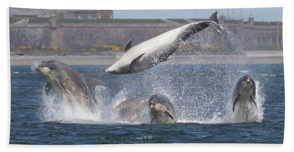 Dance Of The Dolphins Bath Towel
