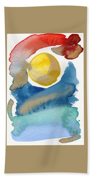 Bath Towel featuring the painting Dancing by Bee-Bee Deigner