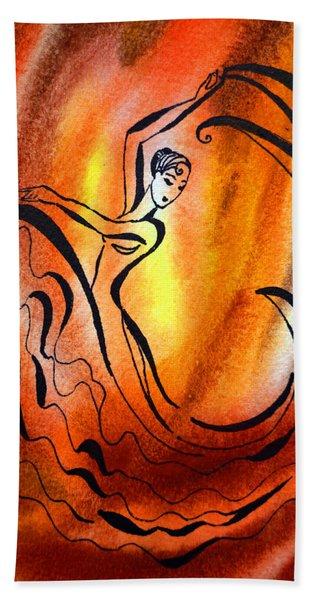 Dancing Fire I Hand Towel