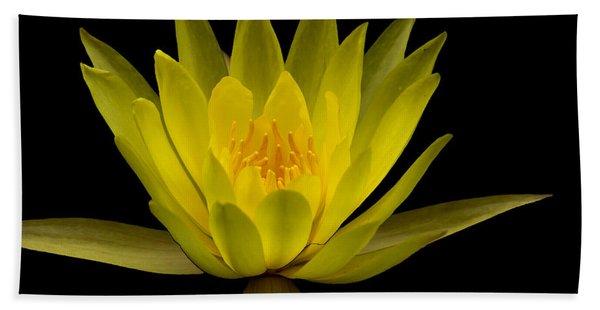 Dancing Yellow Lotus Bath Towel