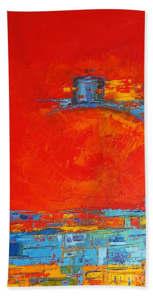 Dare -  Modern Abstract Oil Painting Palette Knife Hand Towel