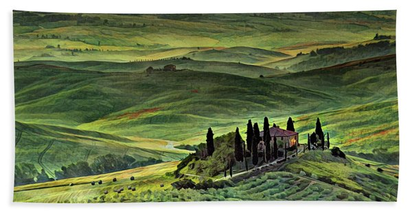 Dawn In Tuscany Italy Hand Towel