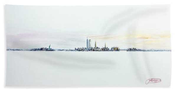 Dawn New York City Hand Towel
