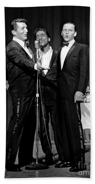 Dean Martin, Sammy Davis Jr. And Frank Sinatra. Bath Towel