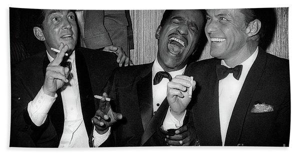 Dean Martin, Sammy Davis Jr. And Frank Sinatra Laughing Hand Towel