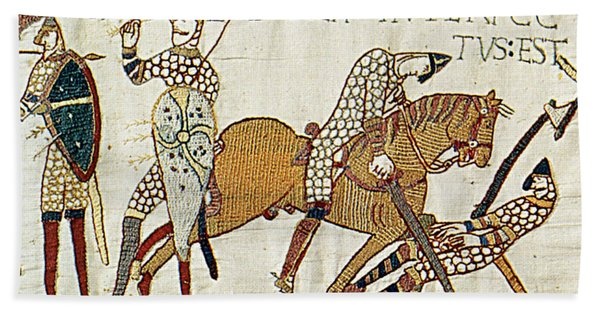 Death Of Harold, Bayeux Tapestry Bath Towel