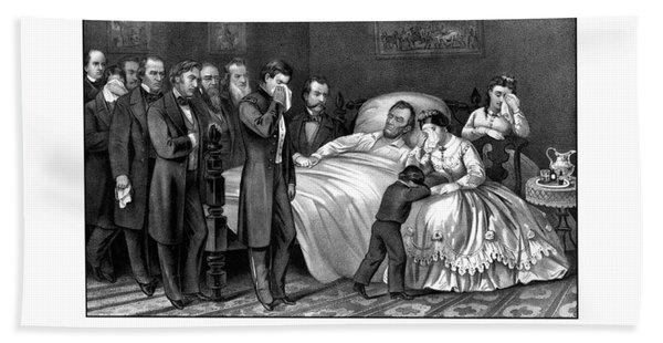 Death Of President Lincoln Bath Towel
