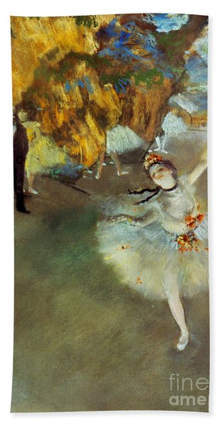 Degas Star, 1876-77. To License For Professional Use Visit Granger.com Bath Towel