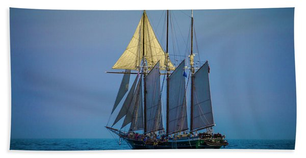 Denis Sullivan - Three Masted Schooner Bath Towel