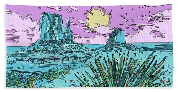 Desert Scene 2 Bath Towel