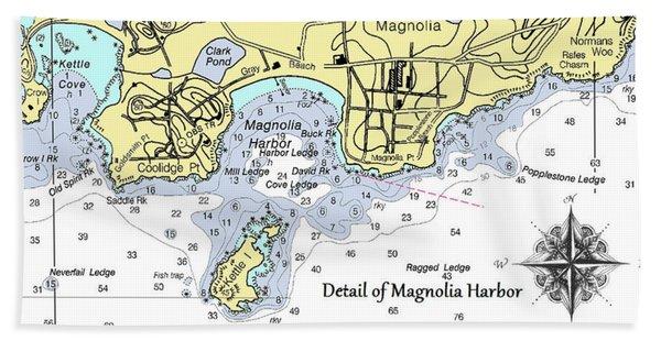 Detail Of Magnolia Harbor Hand Towel