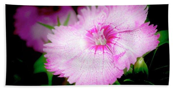 Dianthus Flower Hand Towel