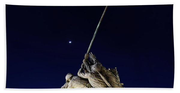 Digital Liquid - Iwo Jima Memorial At Dusk Bath Towel