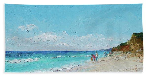 Ditch Plains Beach Montauk Hamptons Ny Hand Towel