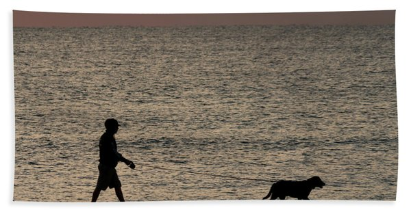 Dog Walker Dawn Delray Beach Florida Bath Towel