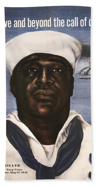 Dorie Miller - Above And Beyond - Ww2 Hand Towel