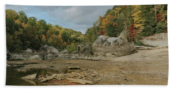 Downstream From Cumberland Falls Hand Towel