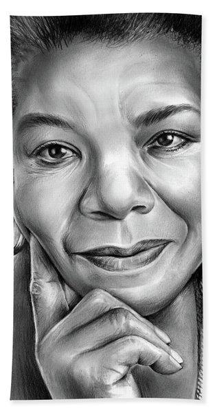 Dr Maya Angelou Bath Towel