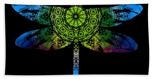 Dragonfly Kaleidoscope Bath Towel