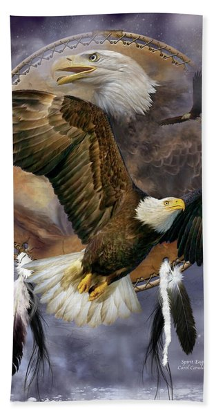 Dream Catcher - Spirit Eagle Hand Towel