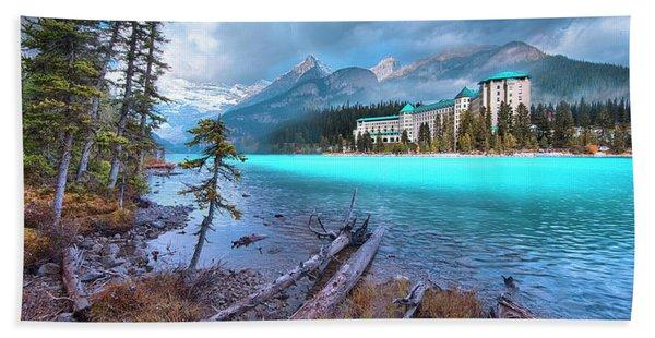 Dreamy Chateau Lake Louise Bath Towel