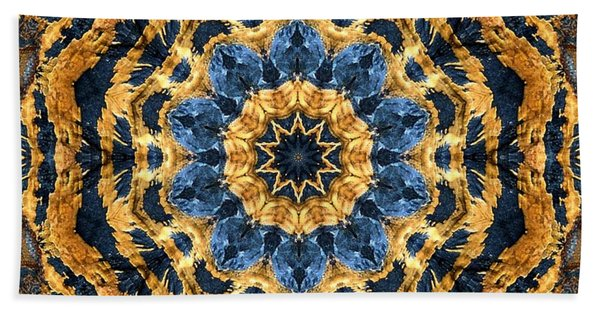 Dripping Gold Kaleidoscope Hand Towel
