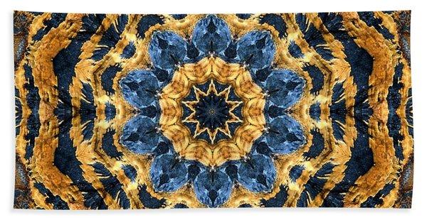 Dripping Gold Kaleidoscope Bath Towel