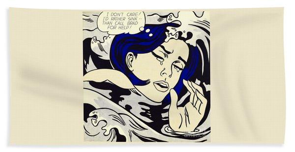 Drowning Girl - Aka Secret Hearts, I Don't Care Or I'd Rather Sink Hand Towel