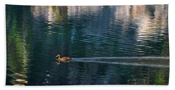Duck Waves Bath Towel