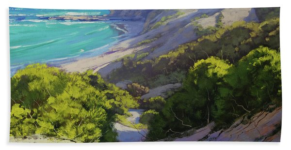 Dunes At Slodiers Beach Hand Towel