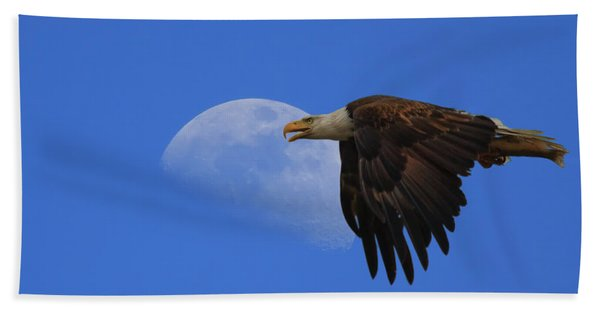 Eagle Moon Bath Towel