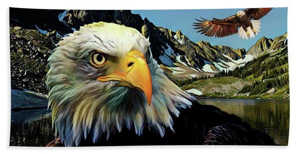 Eagles Lake Hand Towel