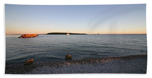 Early Evening On Mackinac Island Hand Towel